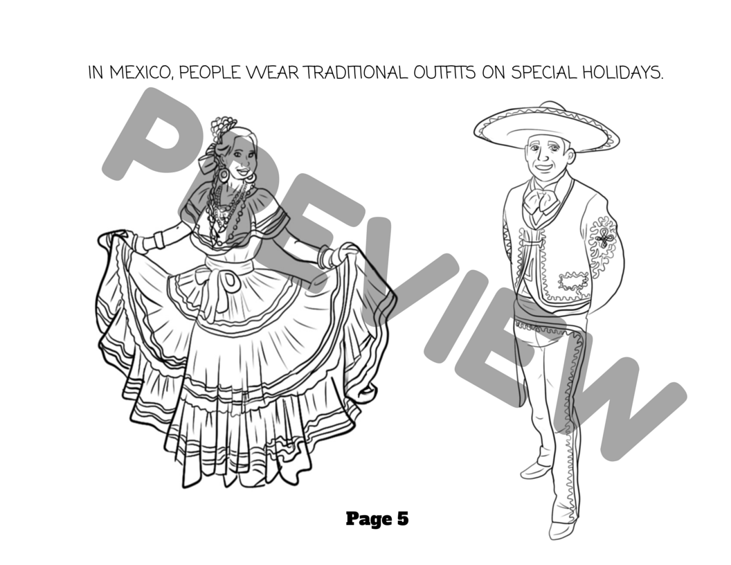 Capital of mexico coloring pages ~ Mexico Activity & Coloring Book for Young Learners ...